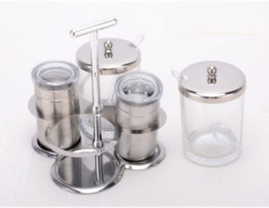Stainless Steel 4-PCS Spice Rack Set (CS-045))