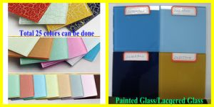 Hot! 3mm to 6mm Back Painted Glass, Lacquered Glass, Lacobel Glass for Home Use pictures & photos