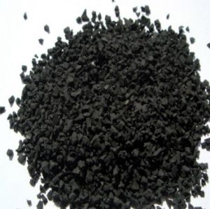 Black Rubber Particles for Plastic Runway/Playground, Running Track