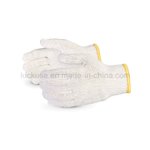 10 Gauge Bleach Color Working Cotton Glove (JF-CT012)