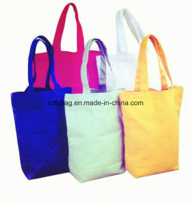 Promotional Customized Logo Cotton Shopping Bag, 10A Canvas Tote Bag (Fly-CB0083) pictures & photos