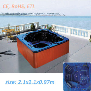 Square Chinese Hot Tub Jacuzzi Prices Massage Bathtub pictures & photos