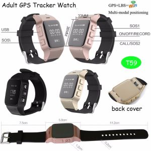 Newest Adult GPS Tracker Watch with Phone APP (T59) pictures & photos