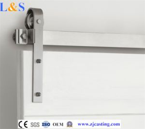 Interior Wooden Barn Sliding Door Hardware for Stainless Steel Roller pictures & photos