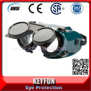 Cheap Flip- Front Round Professional Safety Glasses Welding Goggles pictures & photos