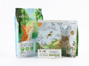 Flat Bottom Pouch Quad Pouch Eight Sizes Sealing Bag Pet Foods Zipper Bag Kraft Paper Bag Foil Bag pictures & photos