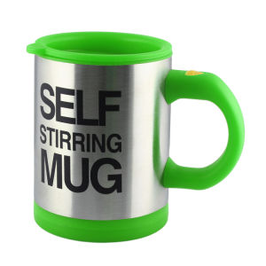 Stainless Steel Lazy Self Stirring Mug Auto Mixing Tea Coffee Cup Office Home Gifts pictures & photos
