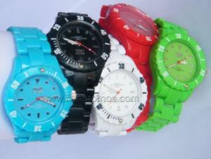 Custom Logo Silicone Quatz Watch pictures & photos