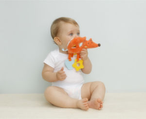 Muti-Function Baby Plush Fox Teether Toy pictures & photos