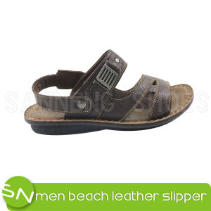 Classic Style Genuine Leater of Men Beach Sandal (SNS-05003) pictures & photos