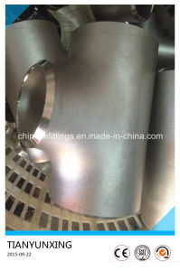 B16.9 Seamless Stainless Wp304/304L Steel Reducer Tee pictures & photos