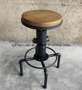 American Do Old, Wrought Iron Fire Hydrant Bar Chair Restoring Ancient Ways Is Solid Wood High Rotating Lifting The Bar Chair (M-X3620) pictures & photos