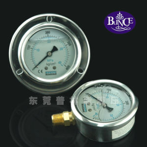 Low Standard Pressure Gauge with Steel Bezel Bottom Connection pictures & photos