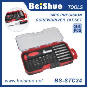 34-PC Combination Ratchet Screwdriver Handle Bit Set pictures & photos