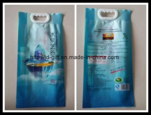 5kgs Customized Printing High Quality Rice Food Packaging Bag with Handle pictures & photos