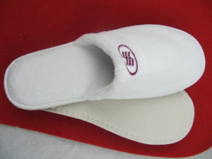 Hotel Collection White Open-Toe Waffle Weave SPA Slippers pictures & photos
