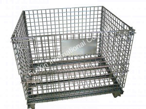 Collapsible Wire Mesh Storage Cage pictures & photos