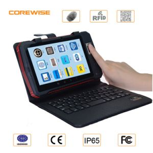 RFID Hf Reader Tablet PC with Barcode and Fingerprint Storage pictures & photos