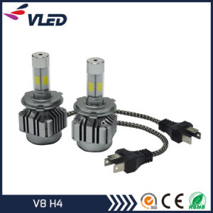 Auto High Power COB Car LED Headlight Kit V8 H4 pictures & photos