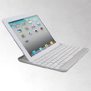 Wireless Aluminium Bluetooth Keyboard for iPad2 /New iPad