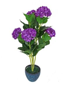 High Quality of Artificial Plants with Flowers Hydrangea 84lvs and 6 Flowers pictures & photos