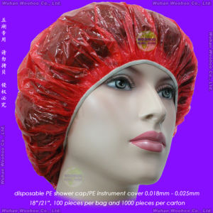 Disposable PE Travel Shower Cap pictures & photos