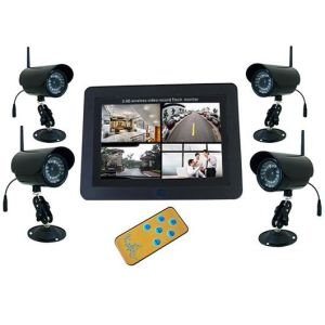 2.4GHz 7 Inch LCD Quad DVR Wireless Camera Combos Kits