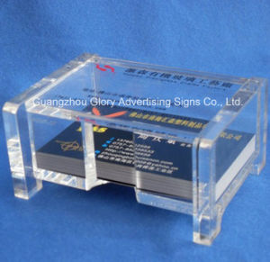 Plastic Clear Acrylic Display for Name Card pictures & photos