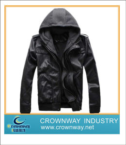 Men′s Fashion and Hot Selling PU Jacket / Leather Jacket pictures & photos
