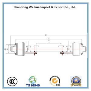 American Type Inboard Drum Axle, Trailer Axle, Truck Axle for Sale pictures & photos