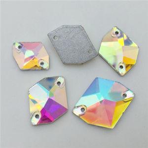 11*14mm Crystal Ab DIY Sew on Cosmic Crystal Rhinestone (SW-Cosmic 11*14mm) pictures & photos