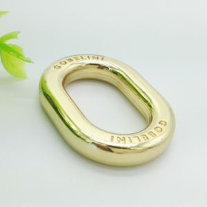Fashion Hardware Rose Gold Metal Oval Ring pictures & photos