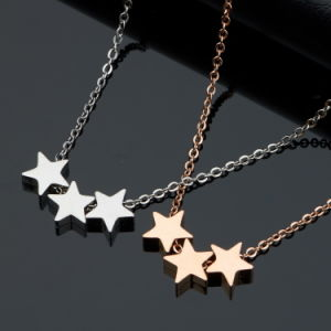 Stainless Steel Women Fashion Jewelry Star Shaped Necklace pictures & photos