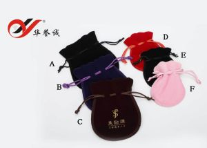Drawstring Velvet Pouch for Jewelry pictures & photos