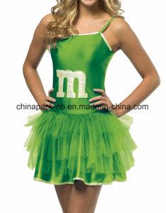Mini Vestido M&M Sassy Verde Tutú Adolescente Niñ as Disfraz Adolescente (CPGC7003X) pictures & photos