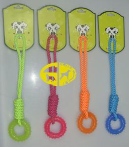 Cotton Rope with TPR Rubber Pet Chew Toy pictures & photos