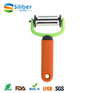 3 in 1 Special Design Silicone Handle Twist Blade Potato Peeler for Sale pictures & photos