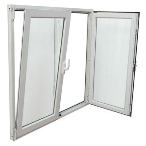 High Quality Vinyl PVC/UPVC Double Casement and Turn Glass Window
