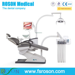 New Design Dental Chair Unit with LED Sensor Dental Lamp pictures & photos