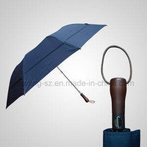 2 Section Automatic Double Layer Golf Umbrella pictures & photos