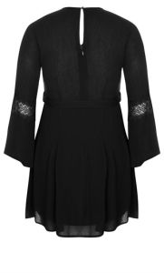 Polyester Plus Size Lacey Bell Dress pictures & photos