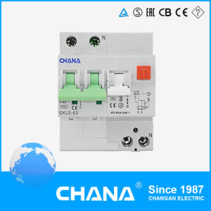 RCCB with Overcurrent Protection 4p 3p + N 63A RCBO Circuit Breaker pictures & photos