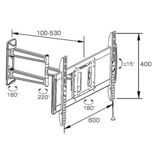 Standard Full Motion TV Wall Mount with Tilt and Swivel pictures & photos
