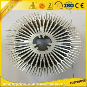 6063 Alloy Aluminum Heat Sink Round Aluminum Heatsink Fan pictures & photos