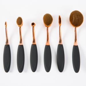 2017 New Arrival 6PCS Oval Private Label Makeup Brush Set pictures & photos
