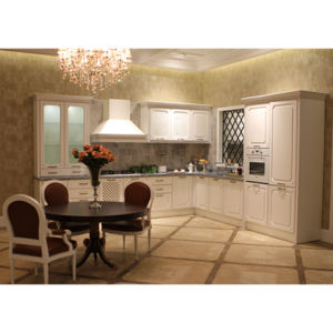 Classic White Solid Wood Kitchen Cabinets with Island Optional pictures & photos