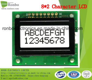 8X2 Character LCD Screen, MCU 8bit, Gray Backlight, FSTN LCD Module, COB LCM pictures & photos