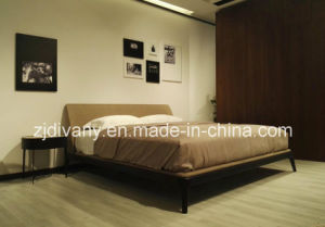 Bedroom Wooden Fabric Bed (A-B44) pictures & photos
