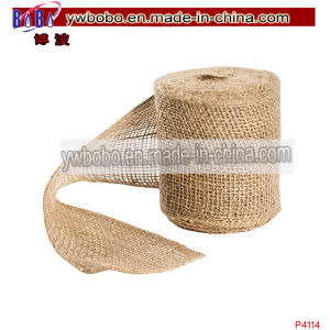 Pary Supplies Party Crafts Natural Burlap Ribbon Christmas Gift (P4114) pictures & photos