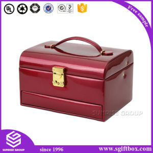 Luxury Handmade Leather Wooden Gift Jewelry Box pictures & photos
